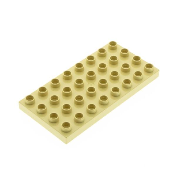 1x Lego Duplo Bau Platte 4x8 beige Grundplatte Set 3771 5608 6156 10199 4672