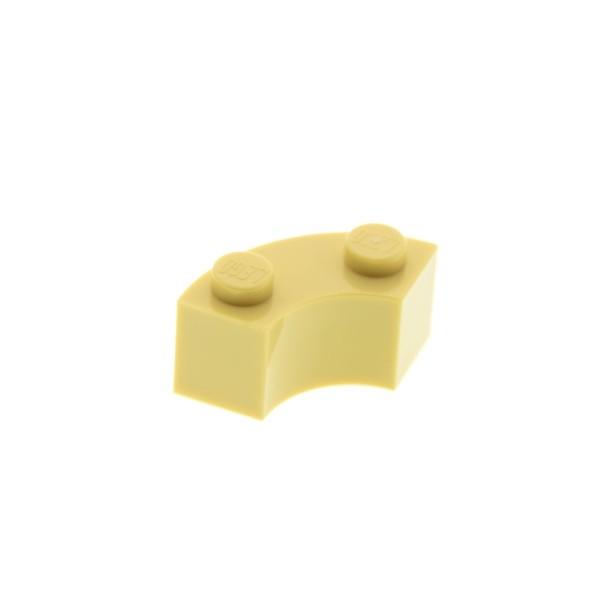 1 x Lego System Macaroni Brunnen Stein tan beige 2x2 Viertel Kreis Rund Ecke Bogen Stein 4239203 3063