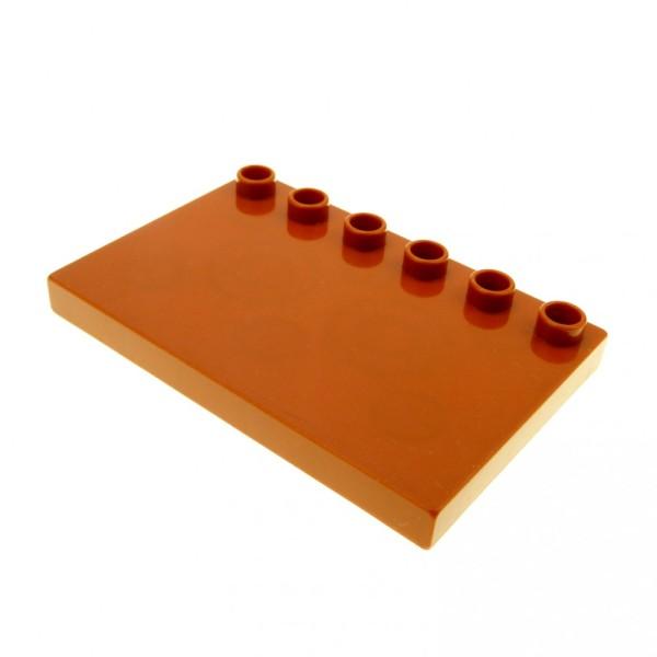 1 x Lego Duplo Bau Platte 4x6 dunkel orange braun 4 x 6 Dach Fliese mit 6 Noppen Markise Set Bob der Baumeister 3274 5598 4968 3298 3283 4157900 31465