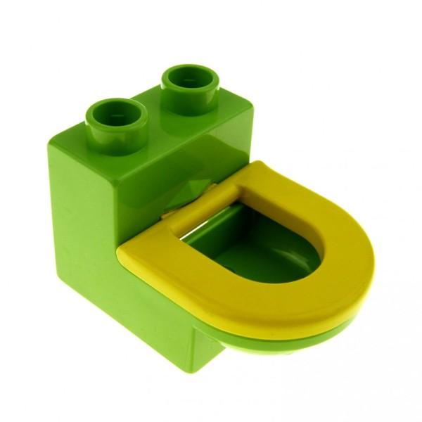 1 x Lego Duplo Möbel Toilette lime grün gelb WC mit Deckel Sitz Badezimmer Bad Puppenhaus 4911c01