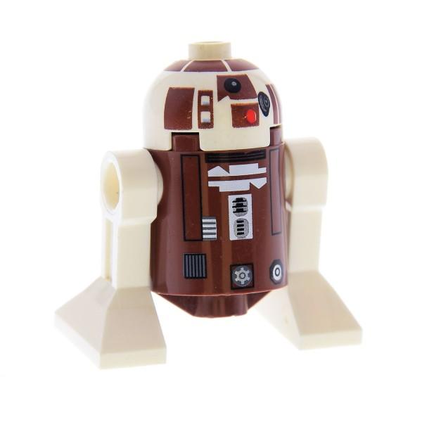 1 x Lego System Figur Star Wars Droid Droide R7-D4 braun weiss Set Clone Wars Plo Koon's Jedi Starfighter Astromechdroide R7 D4 8093 sw119
