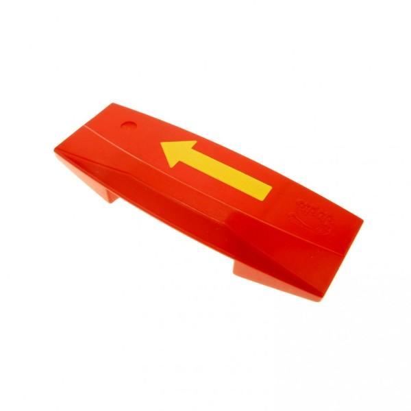 1 x Lego Duplo Richtungswechsler rot Pfeil gelb Eisenbahn Start Stop Schiene Code Stein für Set 2745 2933 5093 9166 2741 81917pb01