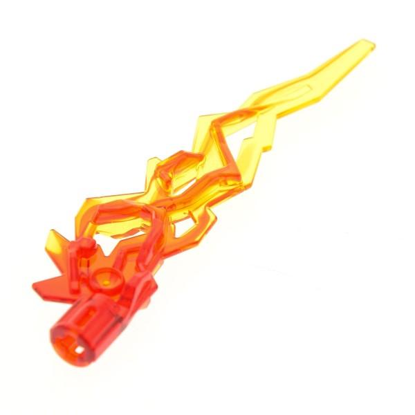 1 x Lego System Flamme transparent rot gelb gezackt Achs Loch Drachen Feuer Waffe Licht Schwert Chima 71308 70146 21873pb01 11302pb01