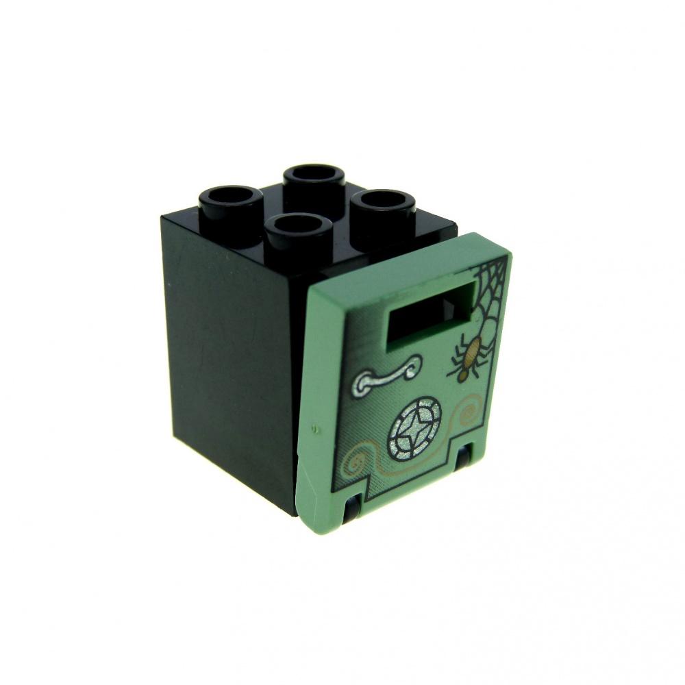 1 x LEGO ® 60596 porte noir//bleu clair comme sur la photo NEUF