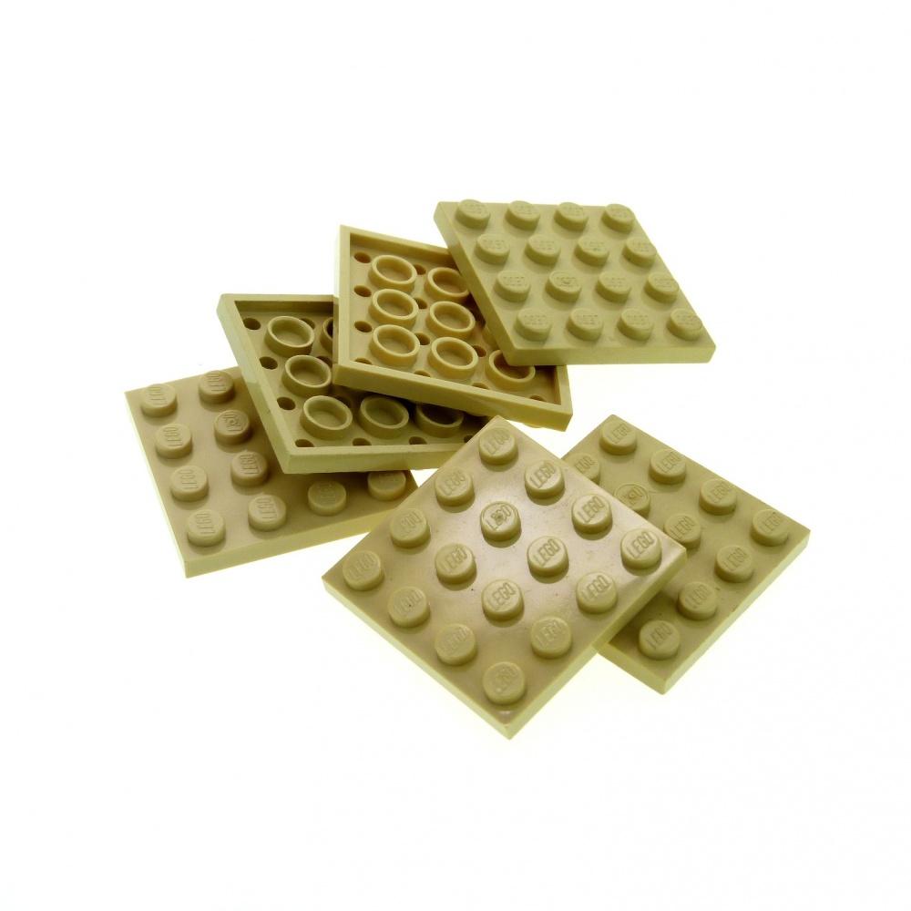 brick yellow, tan NEUF NEW Plate 4x4 4 x LEGO 3031 Plaque beige