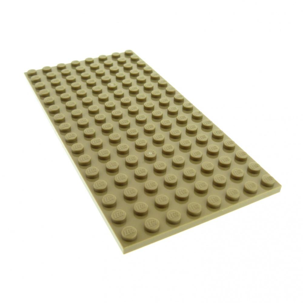 LEGO 92438 plate 8x16 tan