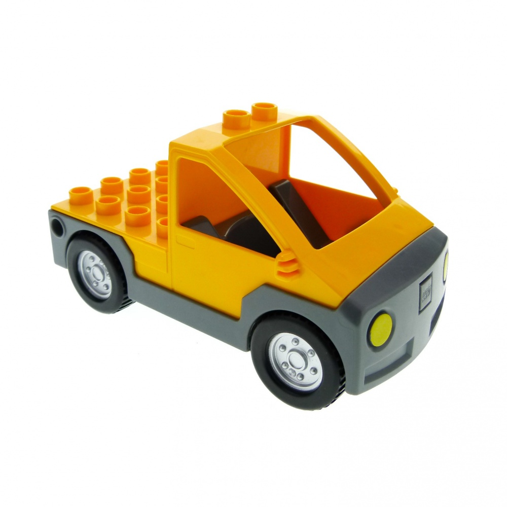 1 x Lego Duplo Auto orange neu-dunkel grau Wagen Pickup 5648 4569516 47438c01