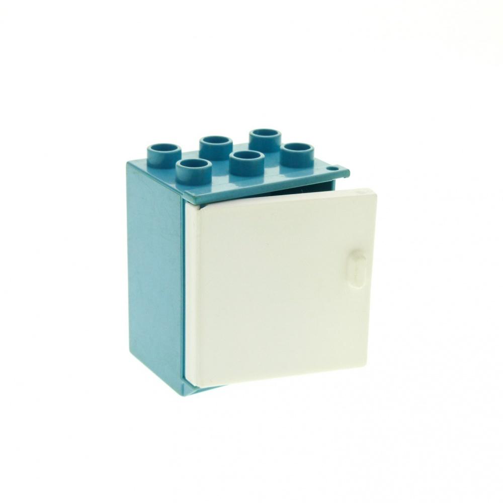 1 x LEGO®  Belville Schrank für Küche,weiß mit weißer Tür gebraucht.