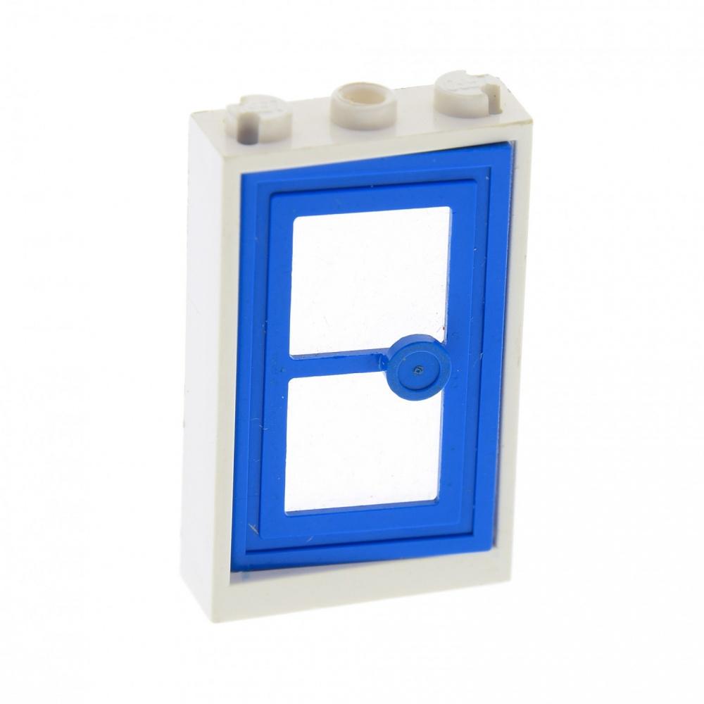 LEGO 2 Red Door Frames 1x4x6 with Clear Door /& Door Knob House Home NEW