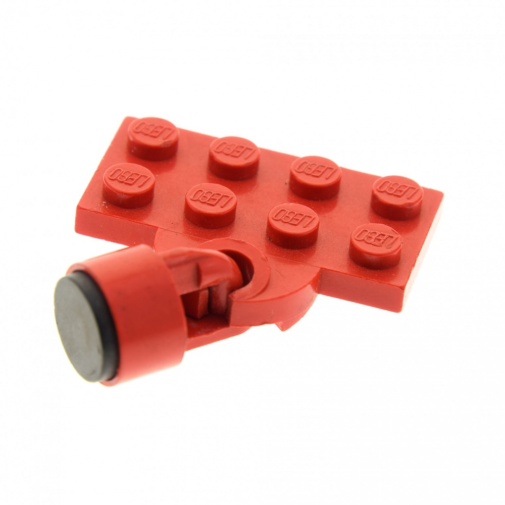 1 x Lego System Zug Kupplung rot blau 2x4 Platte Magnet kurz 6mm Zylinder Lok Zu