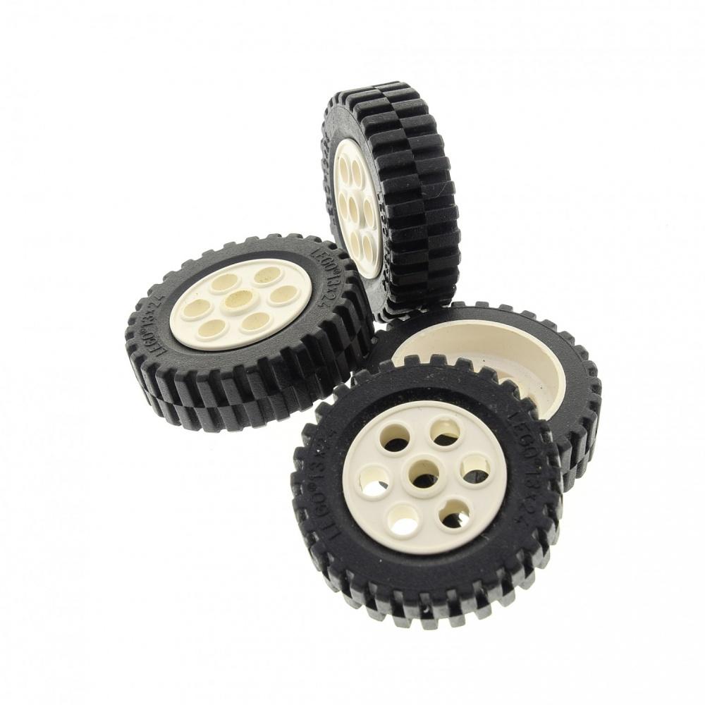 Lego Technic Technik 2x Räder Rad Reifen 13 x 24 schwarze Felgen