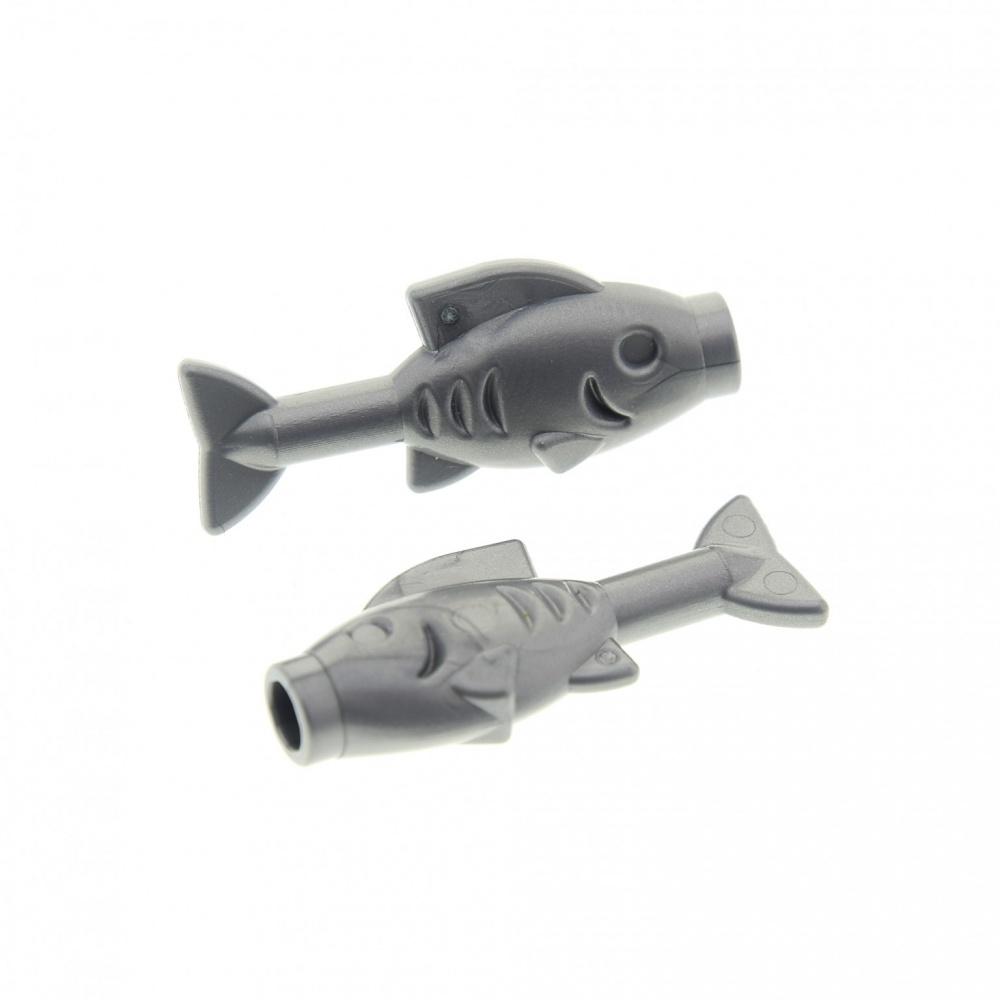 Lego Fisch silber NEU // NEW 64648 fish Flat Silver