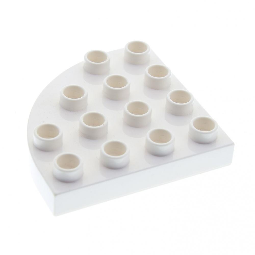 1 x LEGO® 30504-City,Bau-Platte schräg in 8x8 weiss gebraucht