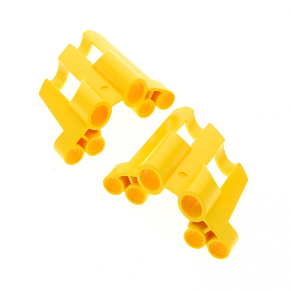 2x Lego Technic Panel Black A B Small Short Hole Large Fairing 5 6 32527 32528