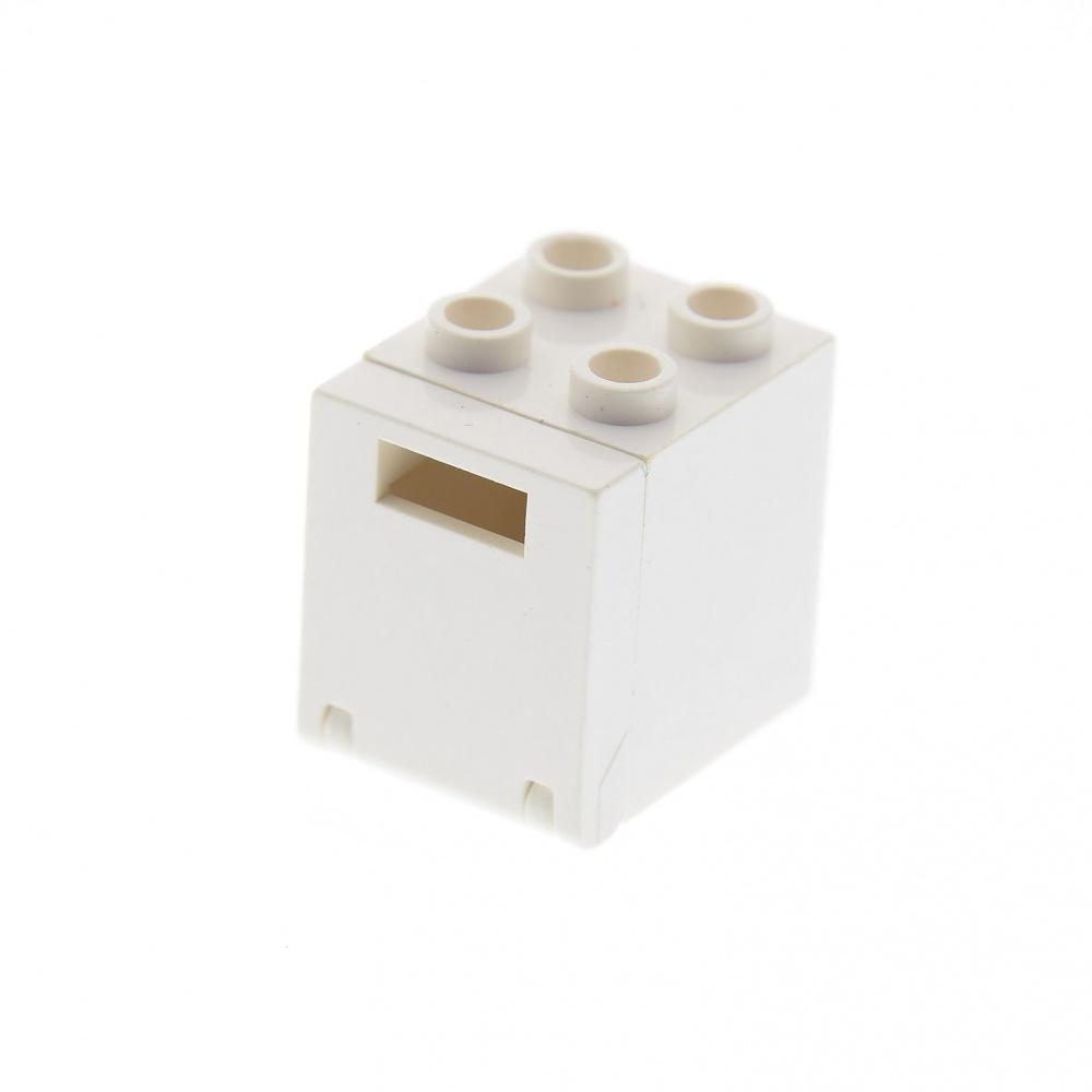 Lego 1x Container Box Boîte 2x2x2 Controls pattern 4345 4346pb05