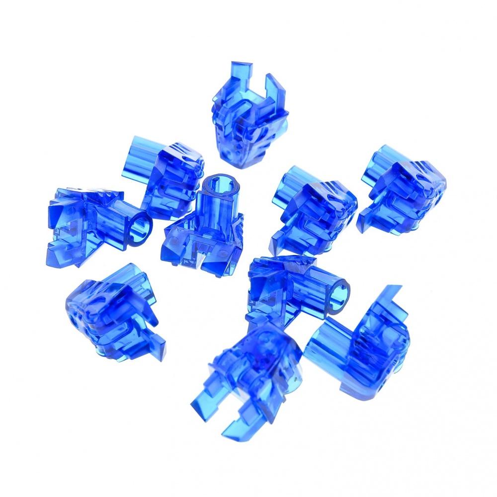 2 x Lego Bionicle Figur Kopf Augen Verbinder Stein transparent dunkel blau 32554