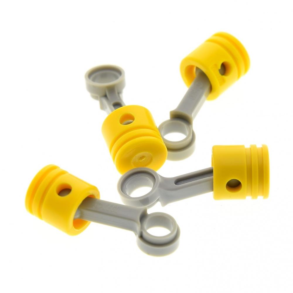 LOT//2 NEW Lego Technic Engine Gray Connecting Rod /& Round Yellow PISTON Engine