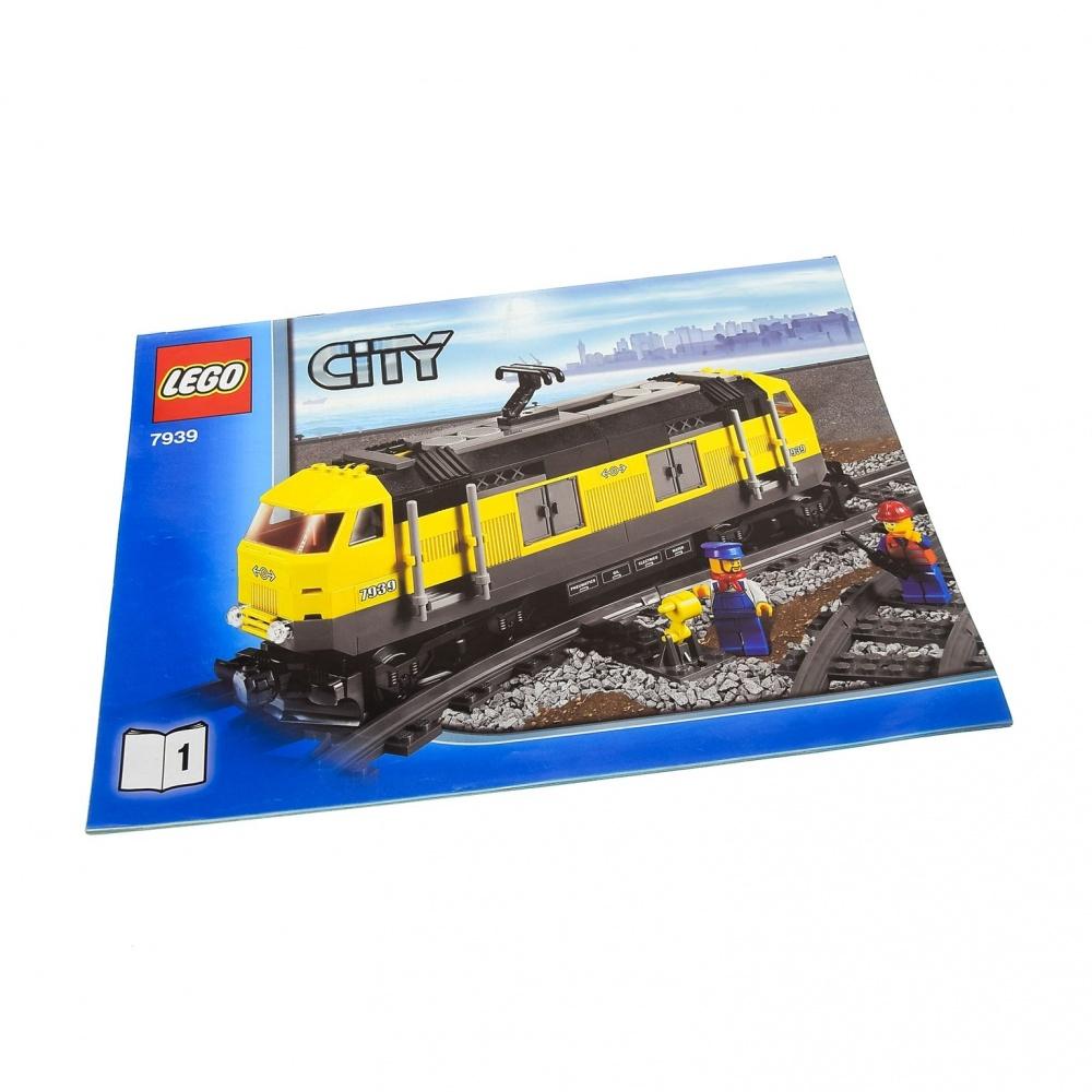LEGO ® City Eisenbahn 7939 Cargo Train Instruction Bauanleitung alle Teile NEU