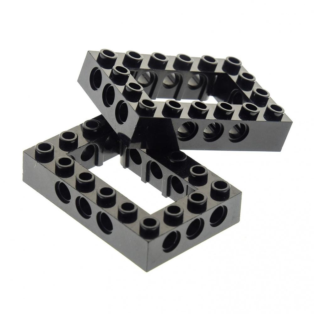 2x Lego Panele Keil Stein schwarz bedruckt 4x4 Pyramid Kanzel 47757pb01