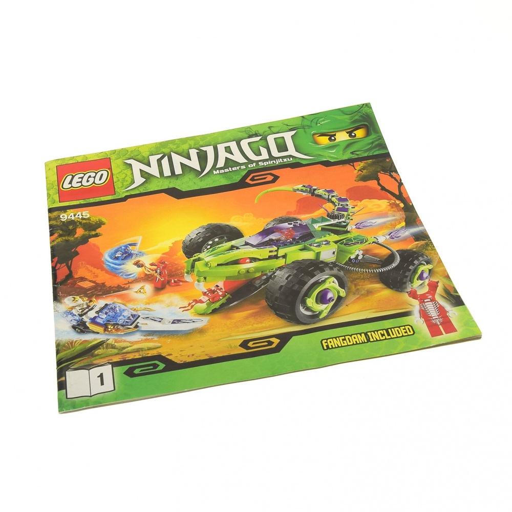 1x Lego Bauanleitung Heft 1 Ninjago Rise Snakes Fangpyre Fahrzeug 9445