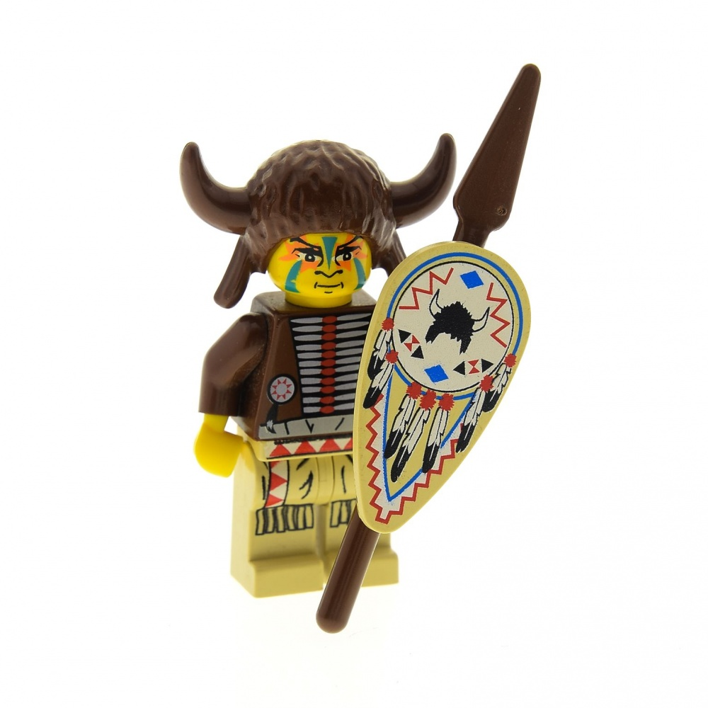 1x LEGO® Torso Körper Indianer Medizinmann Western 973px107c01 NEU Braun