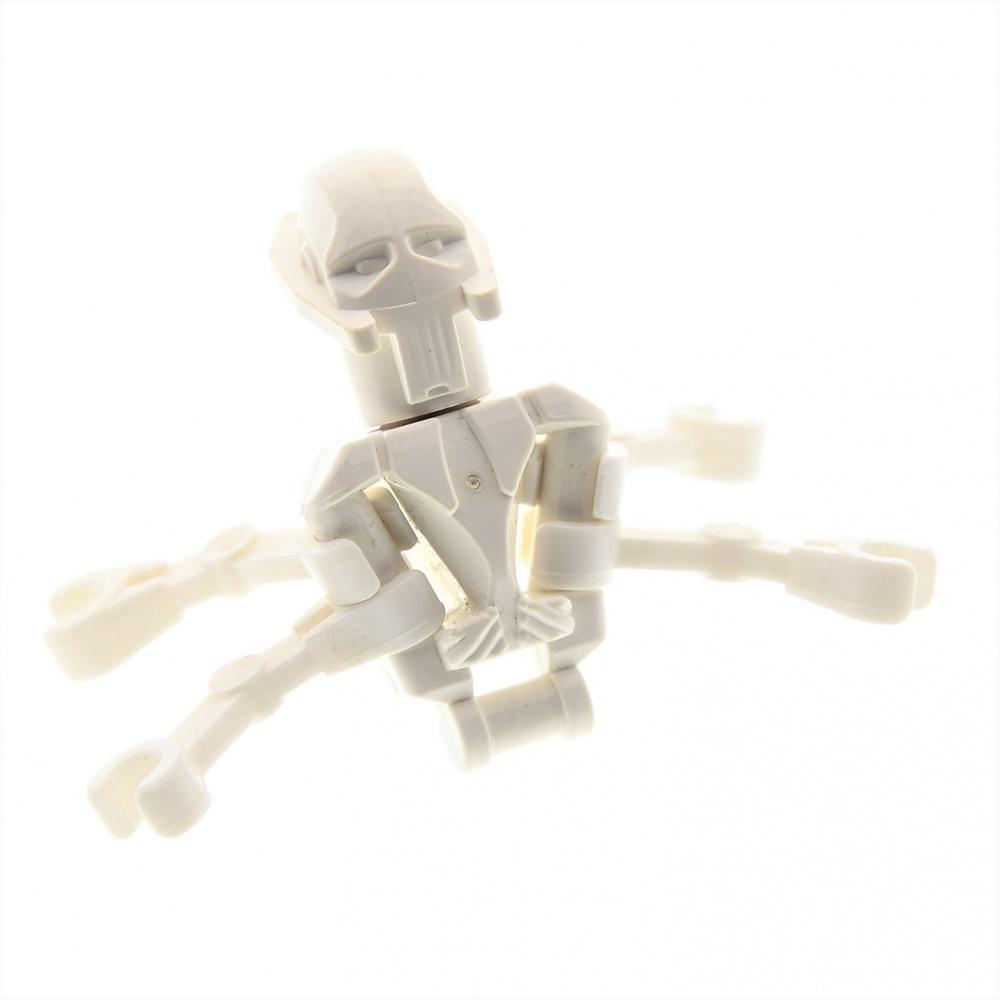 1x Lego General Grievous Cabeza Droid Brazos Figura Blanco Star Wars sw134