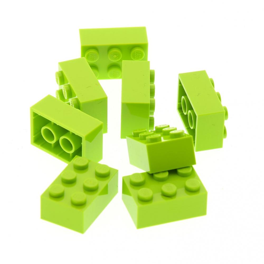 Lego® 8 Reifen mit Felge und 4 Achsen in  alt hellgrau 4624c02