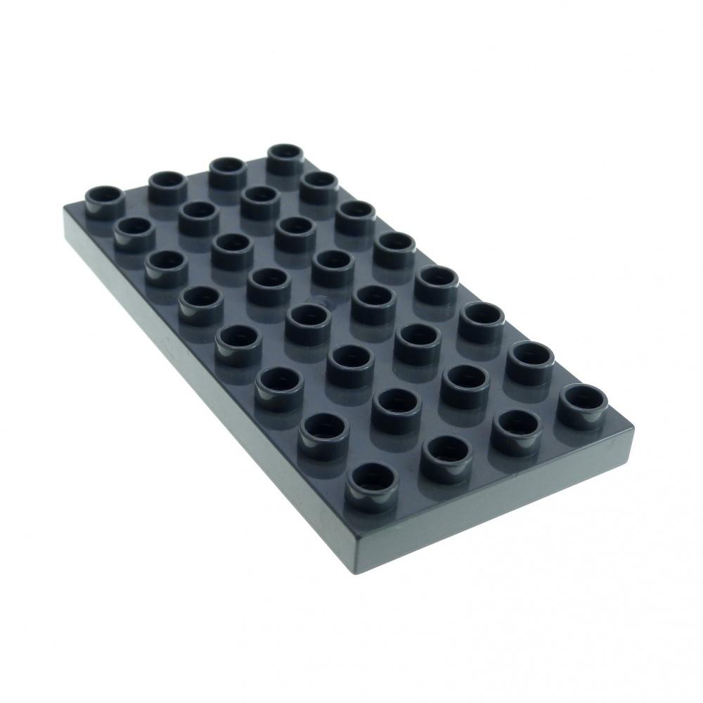 Lego Duplo dunkelgraue Bauplatte Platte 4x8 dunkel grau 32 Noppen Neu