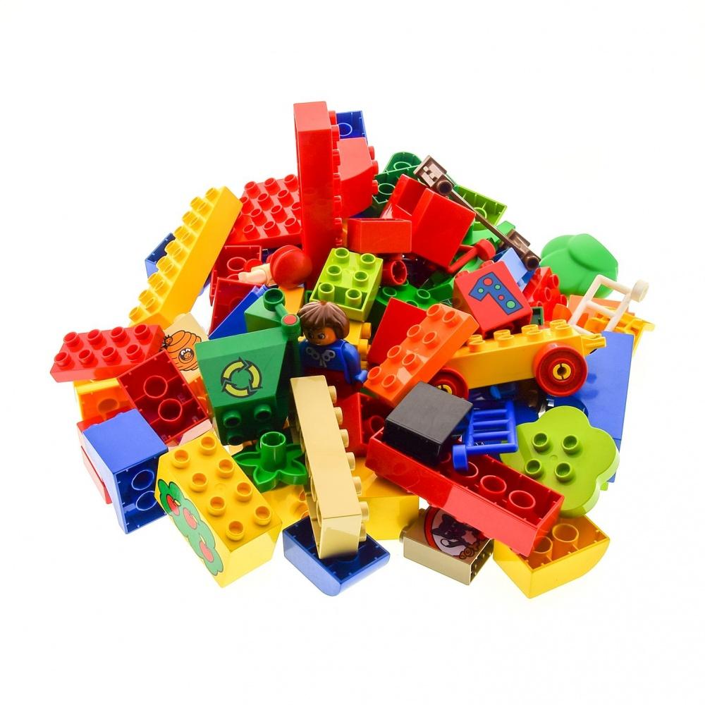 Figuren Auto 1 Kg Lego Duplo Bau Steine Sondersteine Kiloware bunt gemischt z.B