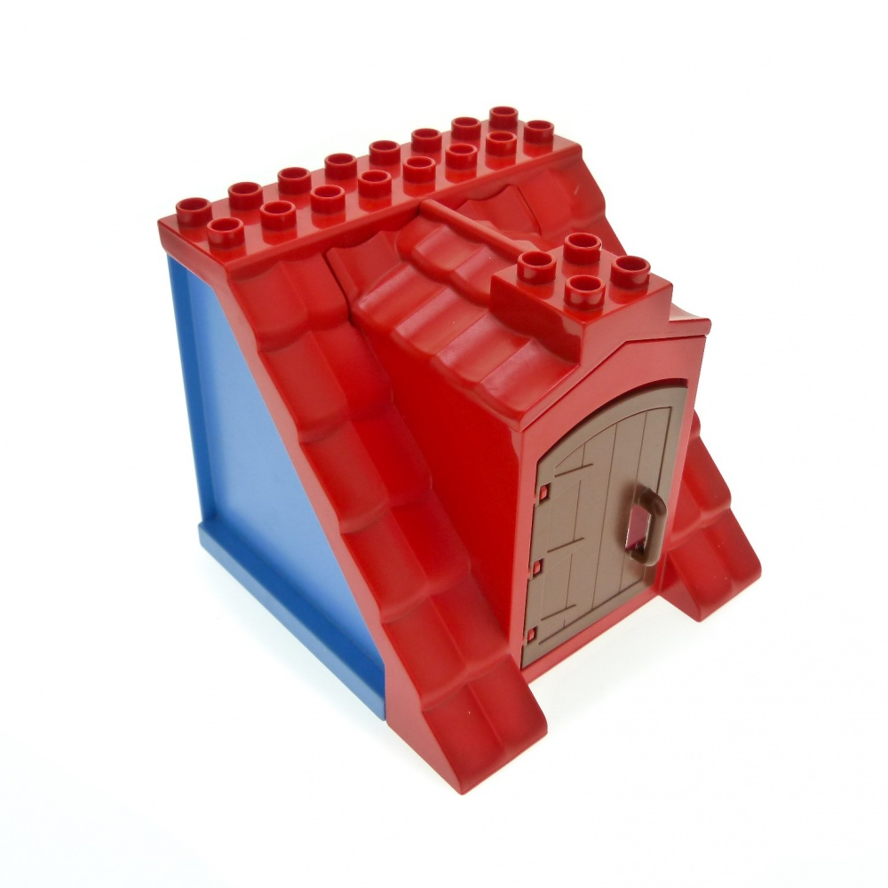 Lego Duplo 3 x Dachstein Red 2 x 3 x 1er Stud Brick Red from 10906 Flat NEW