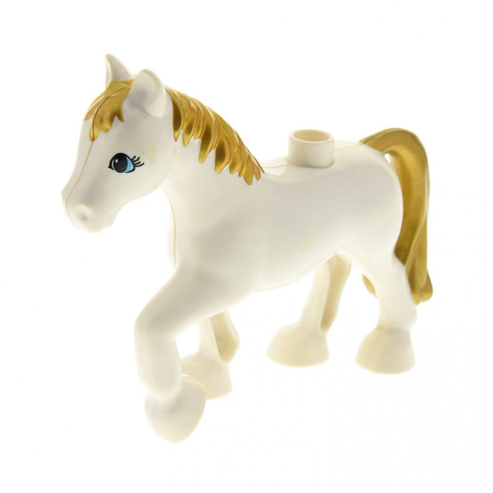 LEGO DUPLO FATTORIA una passeggiata Cavallo Pony Puledri GRIGIO CRINIERA BIANCO da 10868 NUOVO