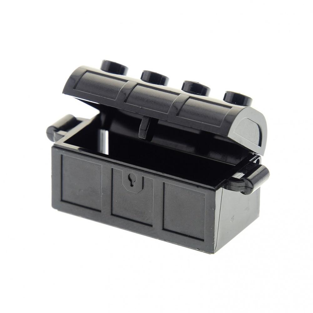 3 x Lego System Schatztruhe Schatz Truhe reddish rot braun 2x4 Container Rücksei
