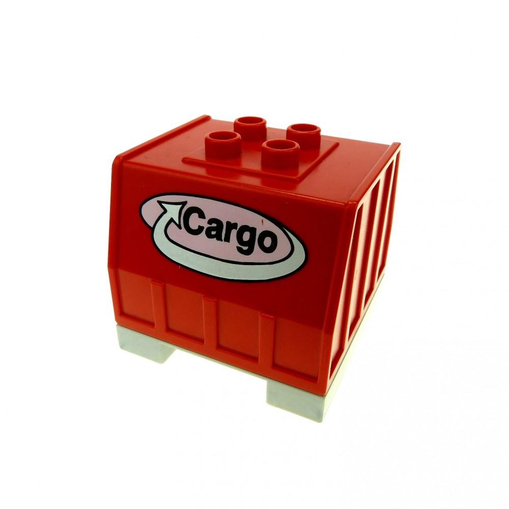 1 x Lego Duplo Eisenbahn Aufsatz perl silber grau Container Waggon 31301 31302