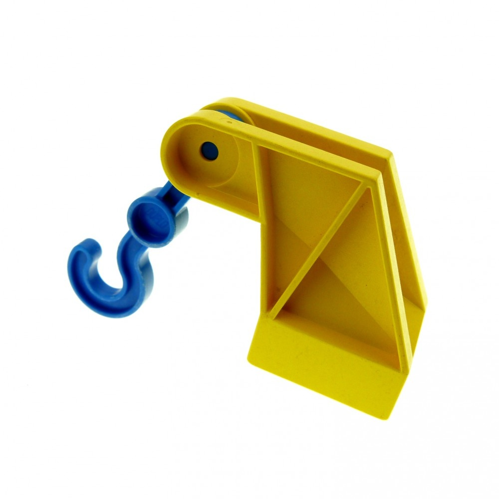 1x Lego Duplo Hooks Yellow Blue 2x2 Tow Wagon Crane Arms Car 3606 2222c01